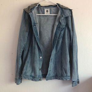 Cotton On Denim Jacket with Grey Hoodie